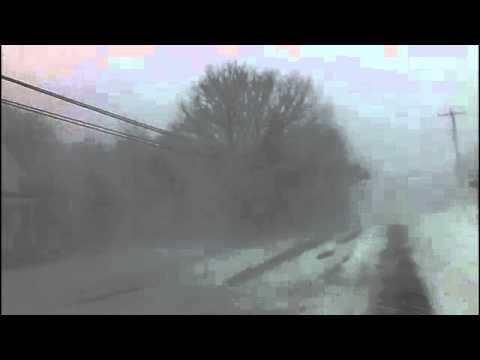 DASHBOARD CAM - March 26 2014 Snowstorm hits Nova Scotia - Filmed in Meteghan NS