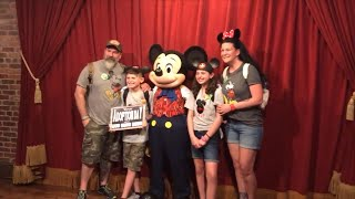 A 12-year-old girl and a 10-year-old boy go from complete shock to tears of happiness after Mickey Mouse helps tell them they're getting adopted.  Their adoptive parents, Courtney and Tom Gilmour from Pennsylvania, initially were going to have Mickey hold the adoption announcement sign at a meet-and-greet at the Florida park. When Disney got wind of their plan on social media, they arranged for a private meeting with Mickey. InsideEdition.com's Lisa Voyticki (https://twitter.com/LDVNews) has more.
