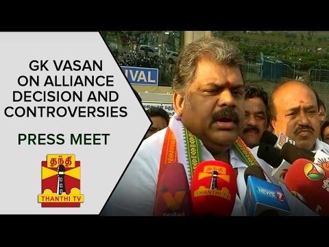 TMC-Leader-GK-Vasan-on-Alliance-Decision-and-Controversies-Press-Meet-Thanthi-TV