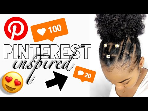 How To: Trendy Pinterest Inspired Criss Cross Rubber-band Protective Style |  Kinzey Rae