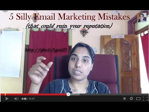 Watch '5 Silly Email Marketing Mistakes You Should Avoid - YouTube'