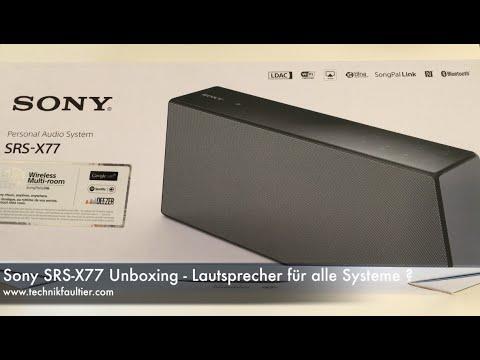 Sony SRS-X77 Unboxing - Lautsprecher für alle Systeme ?