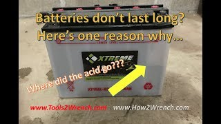 6. What causes a battery case to leak acid?  Demo on a Yamaha VMAX