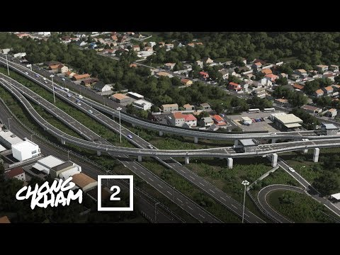 Cities Skylines - Chong Kham Town | Elevated Motorway & Villages | EP.2