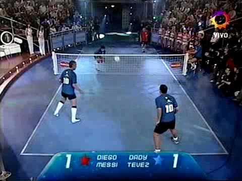 maradona messi calcio tennis! spettacolo puro...