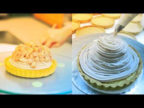 一森手工烘焙坊『 芋頭生乳塔 』製作過程