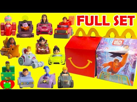 Collect 2018 Ralph Breaks the Internet Movie McDonald's Happy Meal Toys Full Set