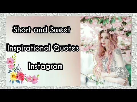 Short quotes - Short and Sweet Inspirational Quotes from Instagram