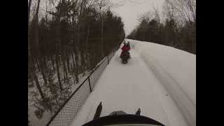 1. Arctic Cat 2008 TZ1 LXR Snowmobile Ride Maine