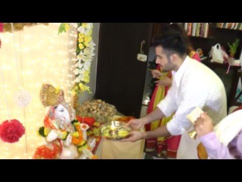 Karan Tacker Ganpati Celebration At Home With Fami