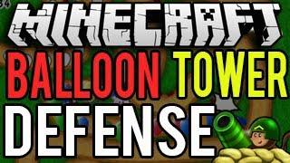 Minecraft Playstation - Balloon Tower Defense (Mini Game Fun!)