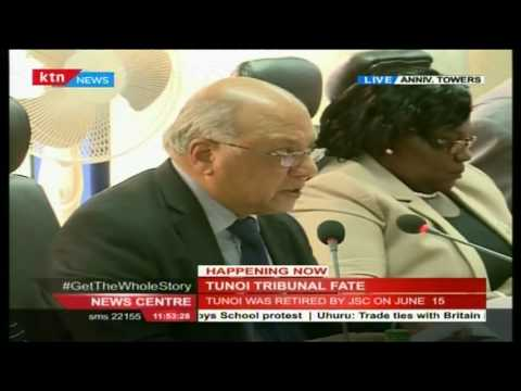 Tunoi Tribunal prematurely ends due to the following reasons