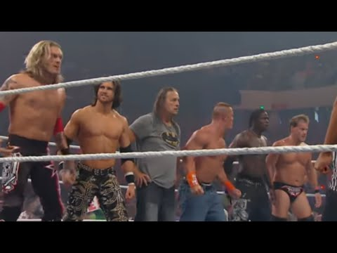 Raw: John Cena & Bret Hart vs. Edge & Chris Jericho (видео)