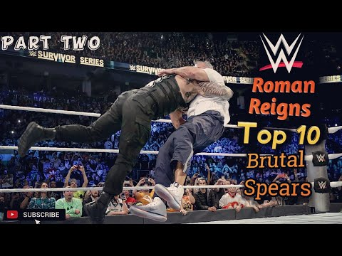 Roman Reigns Top 10 Brutal Spears_HD | Part Two |