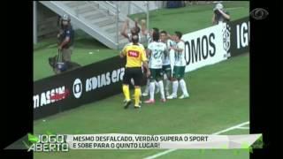 O técnico Cuca elaborou um time mesclado para o duelo contra o Sport e o alviverde venceu o Leão da Ilha do Retiro por 2 a 0 com gols de Keno e Bruno Henrique.