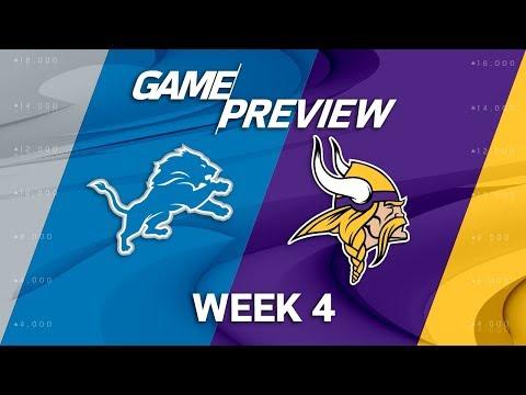 Video: Detroit Lions vs. Minnesota Vikings | Week 4 Game Preview | NFL Playbook