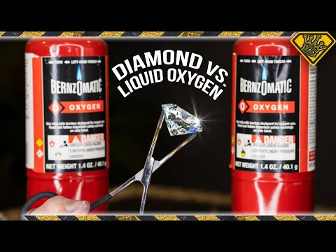 Can Liquid Oxygen Melt Diamond?