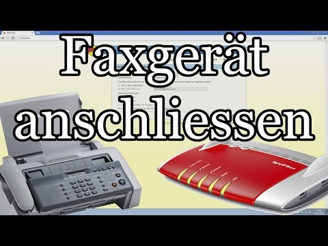 Faxgerät an Fritzbox anschliessen und Rufnummer zuweisen