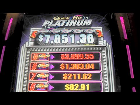 Platinum Quick Hits TERRIBLE WIN! MAX BET + RETRIGGER Slot Machine Bonus