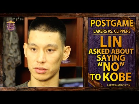 Video: Lakers vs. Clippers: Jeremy Lin Asked About Saying 'No' To Kobe Bryant