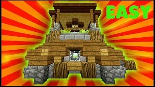 Minecraft: How To Build A Small Survival Farm House Tutorial (Easy Starter House )