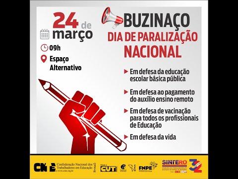 Sintero convoca categoria para buzinaço no dia 24 de março, Dia de Paralização Nacional