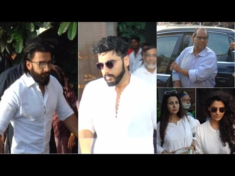 Ranveer Singh | Arjun Kapoor | Prayer Meet of Sonam Kapoor Grand Mother Duru Bhambhani
