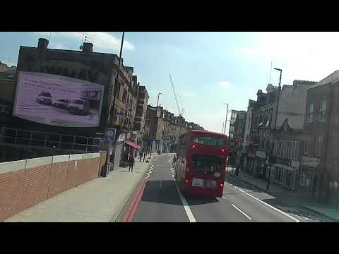 Full Route Visual~43: Friern Barnet - London Bridge Bus Station