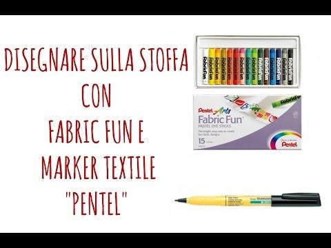 COME DISEGNARE SULLA STOFFA:FabricFun e Marker Textile PENTEL:Recensione  (Arte per Te)