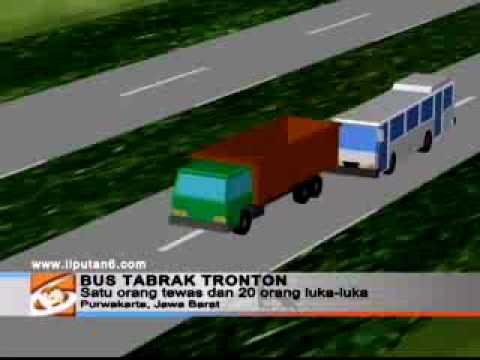 Purwakarta: Bus Tabrak Tronton