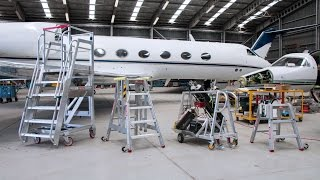 About our custom design and manufacturing for aviation height access.