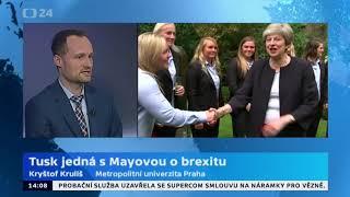 Tusk jedná s Mayovou o brexitu