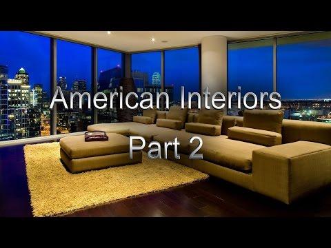 The home interiors in the USA, American Interiors, American interior design Part 2