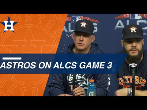 Video: ALCS Gm3: Hinch and Keuchel on Red Sox lineup