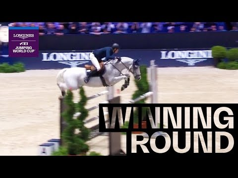 Longines FEI Jumping World Cup Martin Fuchs with Clooney 51 - take the win and defend their victory of last year with an incredible time of 41:27!