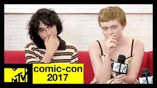 The 'It' cast (Finn Wolfhard, Jack Dylan Grazer, Wyatt Oleff, Sophia Lillis, Chosen Jacobs, Jeremy Ray Taylor) discuss meeting...