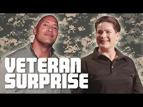 The Rock Surprises A US Army Combat Veteran!
