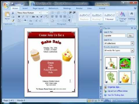 How to Make a Flyer using Microsoft Word