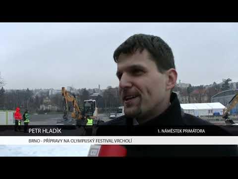 TV Brno 1: 2.2.2018 Přípravy na Olympijský festival vrcholí.