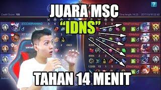 Video KETEMU JUARA MSC IDNS TAHAN 14 MENIT !!! - MOBILE LEGEND BANG BANG MP3, 3GP, MP4, WEBM, AVI, FLV Oktober 2017