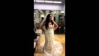 Laurie excited when her sister Jelysa found the wedding dress Laurie Hernandez's IG Story - February 27, 2017.