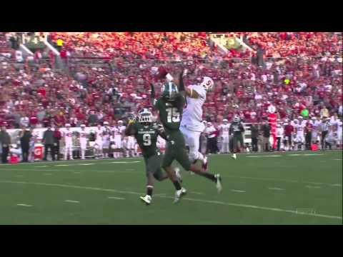 Trae Waynes interception vs Stanford 2014 (Rose Bowl) video.