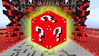 LUCKY RED BLOCKS EVIL CASTLE MOD CHALLENGE - MINECRAFT MODDED MINI-GAME!