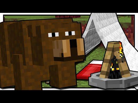 Minecraft   CAMPING BEAR ATTACK!!   Custom Mod Adventure