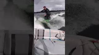 Wake surfing Lake Ivanhoe, Orlando, FL
