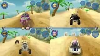 Beach Buggy Racing™ 4 Player Split Screen (on Mobile!)