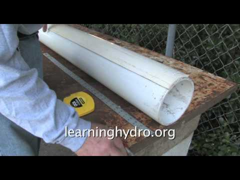 A PVC hydroponic garden -- for a balcony, walkway, or fence