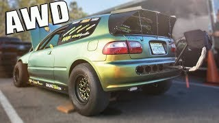 Download Youtube: They Built an ALL WHEEL DRIVE 1300hp Civic