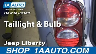 How To Install Replace Change Taillight and Bulb 2002-07 Jeep Liberty