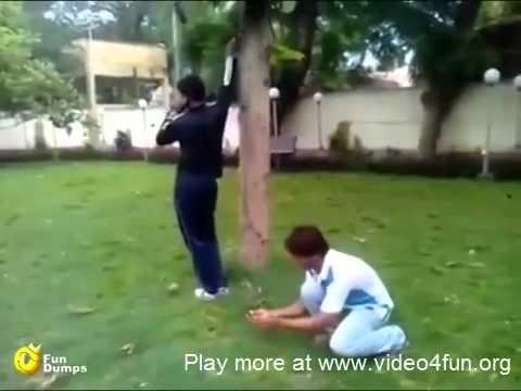 Firecracker prank, crazy type
